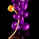 Purple Bear with Golden Flower by RandiScott