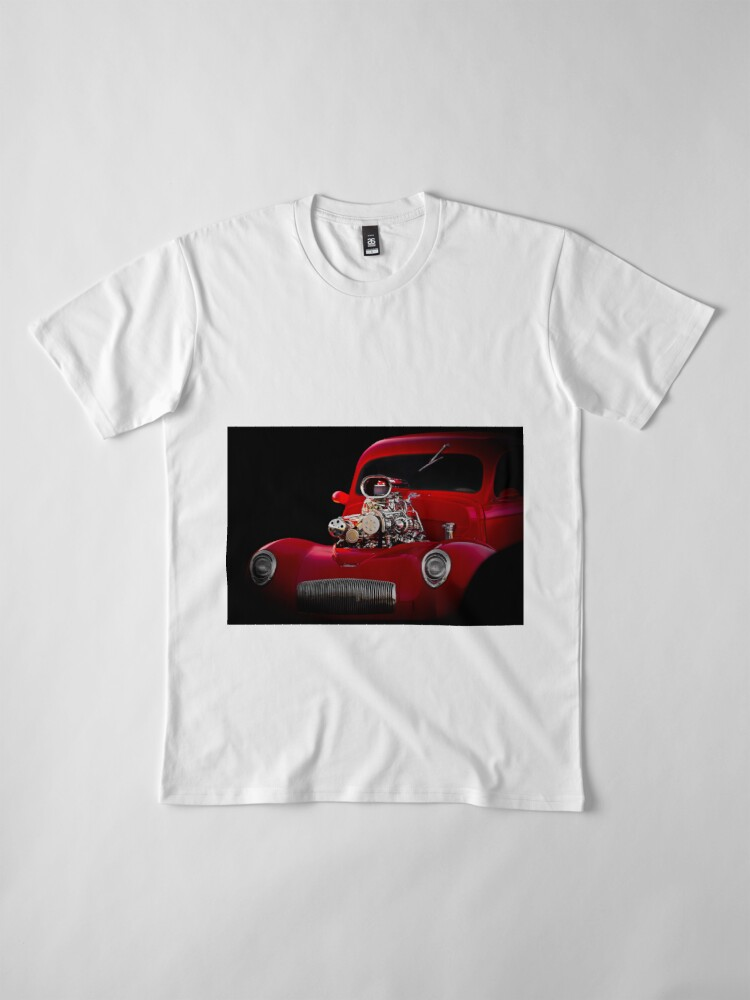 Alternate view of 1941 Willys 'Blown' Coupe Premium T-Shirt