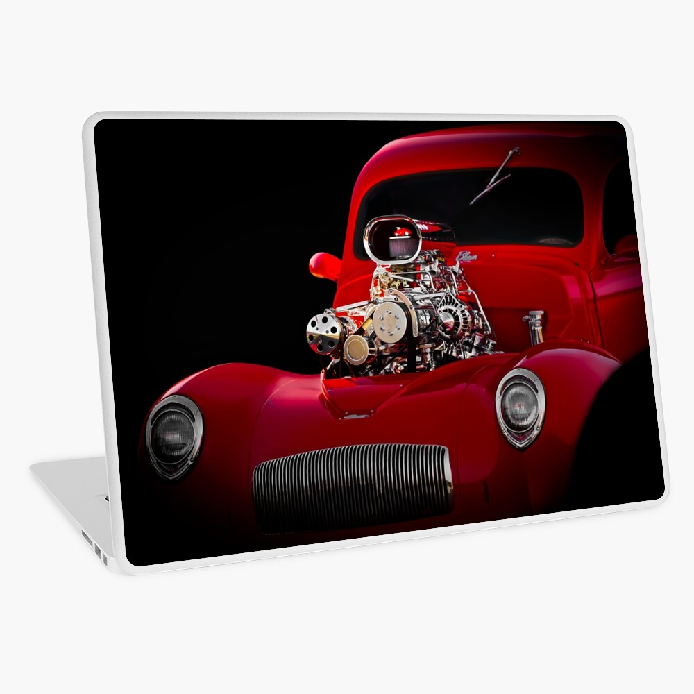 1941 Willys 'Blown' Coupe Laptop Skin