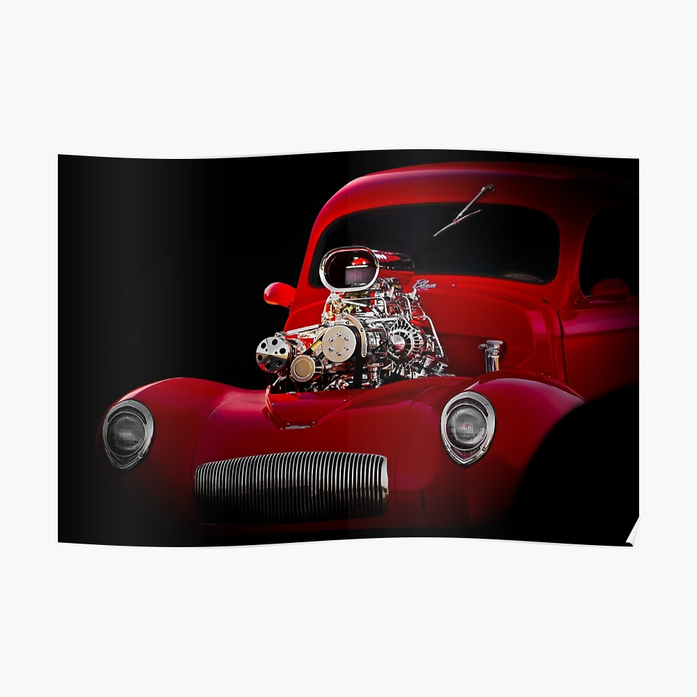 1941 Willys 'Blown' Coupe Poster