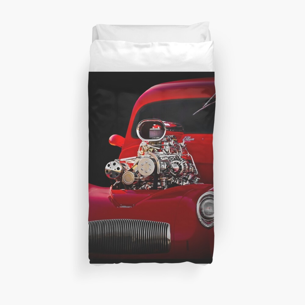 1941 Willys 'Blown' Coupe Duvet Cover