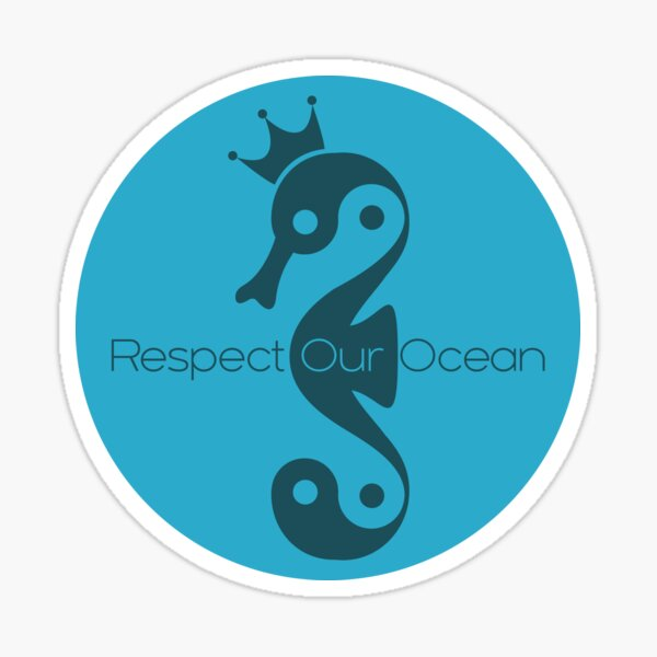 Respect Our Ocean - Seahorse love Sticker
