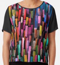 Multicolored watercolor stripes pattern Chiffon Top