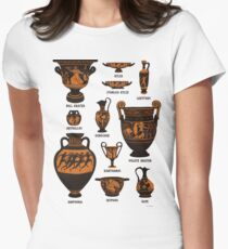 Ancient Greek Pottery Fitted T-Shirt