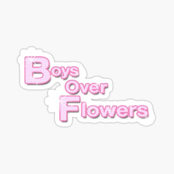 Chicos sobre flores Pegatina