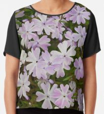 Green and Purple Watercolor Floral Pattern Chiffon Top