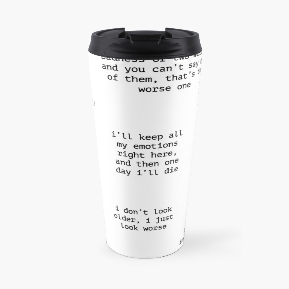 John Mulaney Quotes Travel Mug