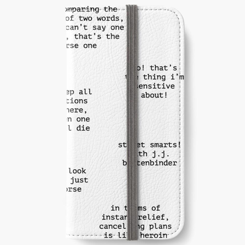 John Mulaney Quotes iPhone Wallet