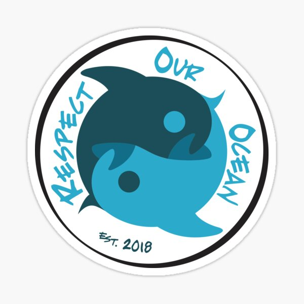 Respect Our Ocean - Dolphin Sticker