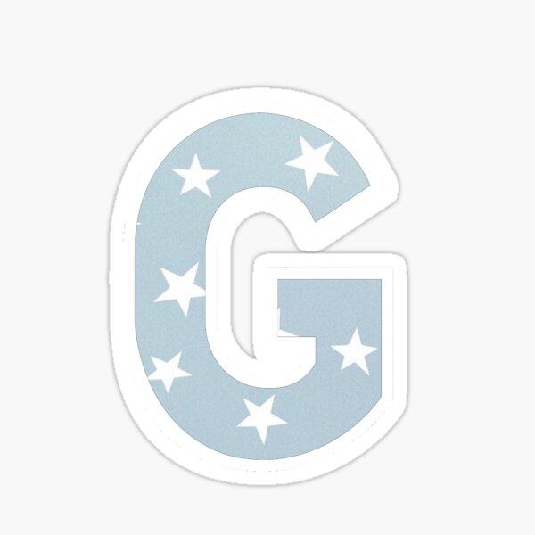 G Blue Star Sticker