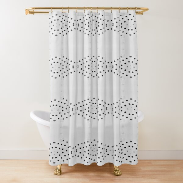 White Water drop Shower Curtain