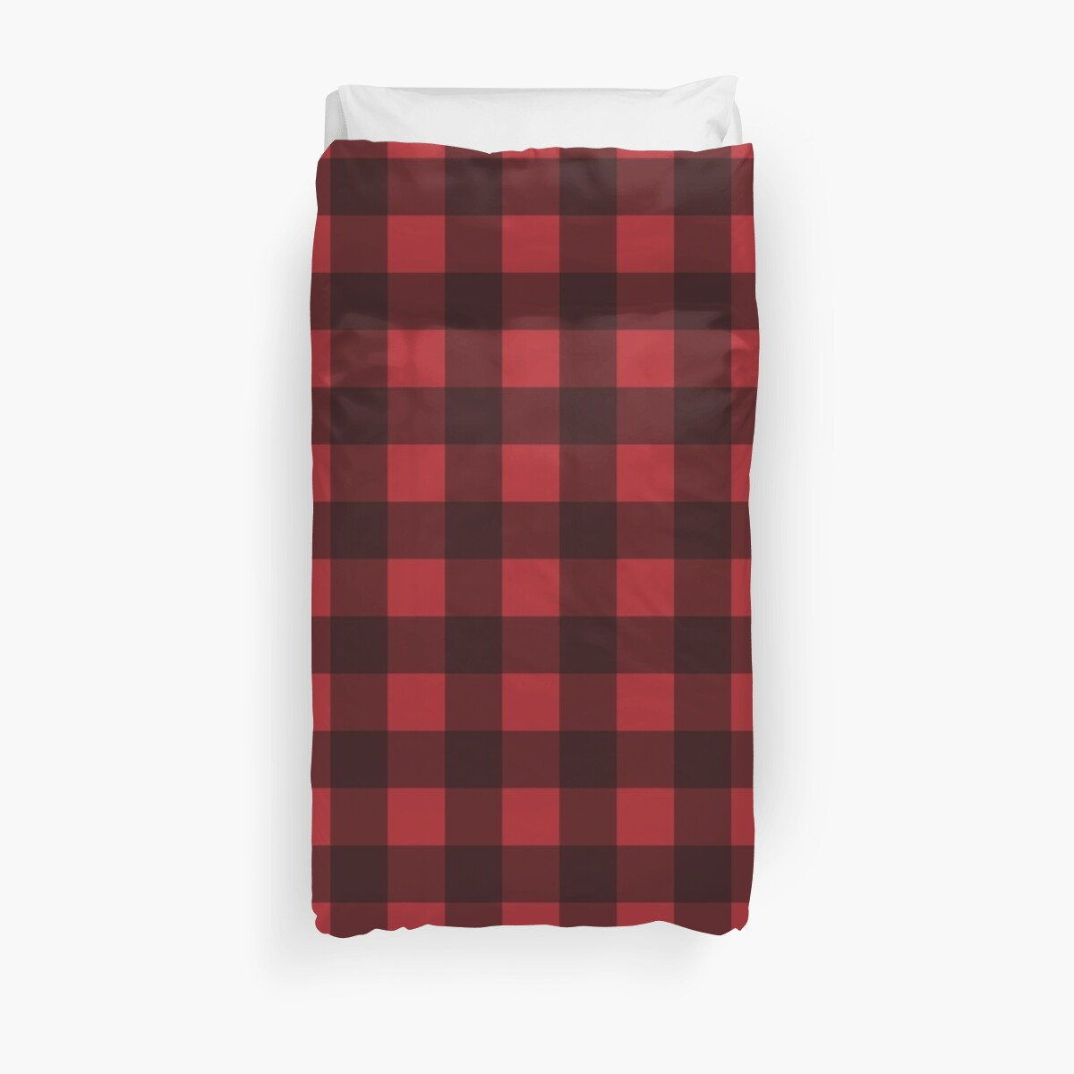 Quot Buffalo Plaid In Lumberjack Red And Black Quot Duvet Covers