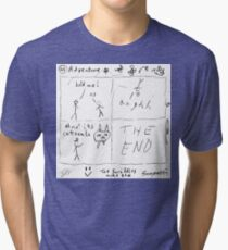'Adventure' by Ted Scribbles Tri-blend T-Shirt