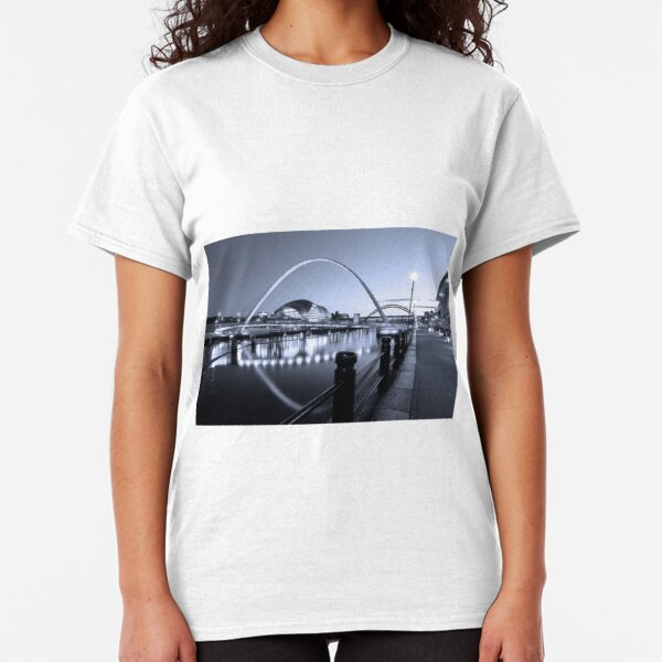 Newcastle Quayside and Millennium Bridge Classic T-Shirt