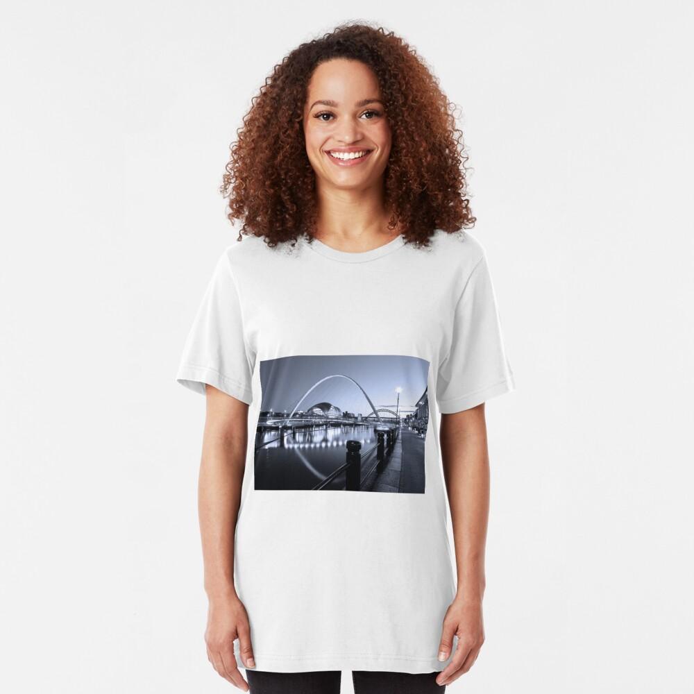 Newcastle Quayside and Millennium Bridge Slim Fit T-Shirt