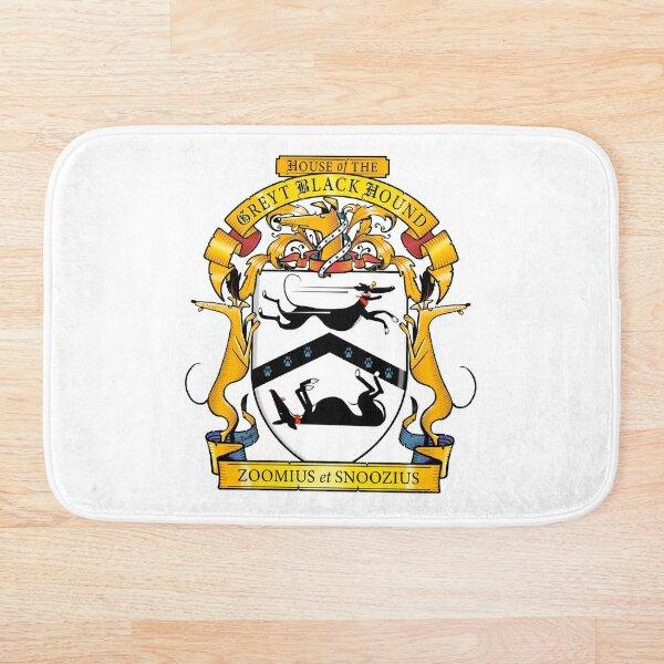 Greyhound Heraldry: Greyt Black Hound Bath Mat