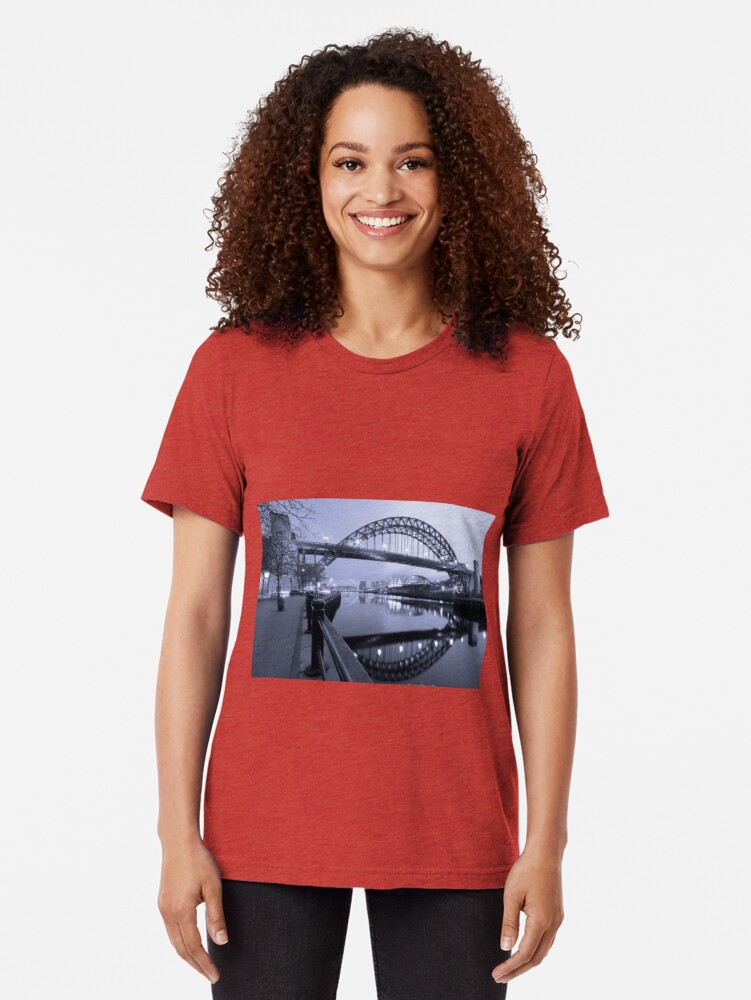 Alternate view of The Tyne Bridge, Newcastle Tri-blend T-Shirt