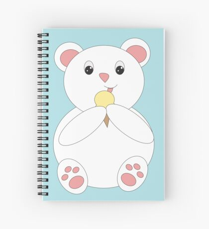 Polar Bear Eating Ice Cream Spiral Notebook