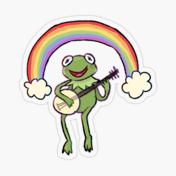 """Rainbow Kermit"" Sticker transparent"