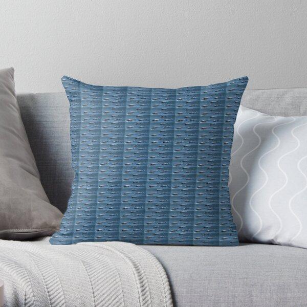 #Fish, #pattern, #abstract, #wallpaper, aluminum, design, net, architecture, weaving, steel Throw Pillow