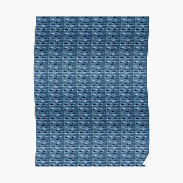#Fish, #pattern, #abstract, #wallpaper, aluminum, design, net, architecture, weaving, steel Poster