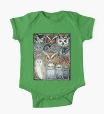 Owl family One Piece - Short Sleeve