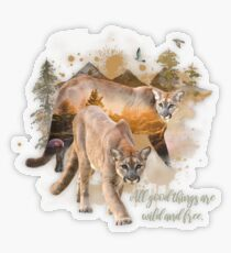 All Good Things are Wild and Free Transparent Sticker