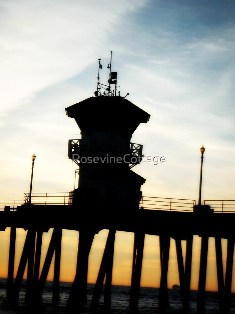 Sunset At The Pier  by RosevineCottage