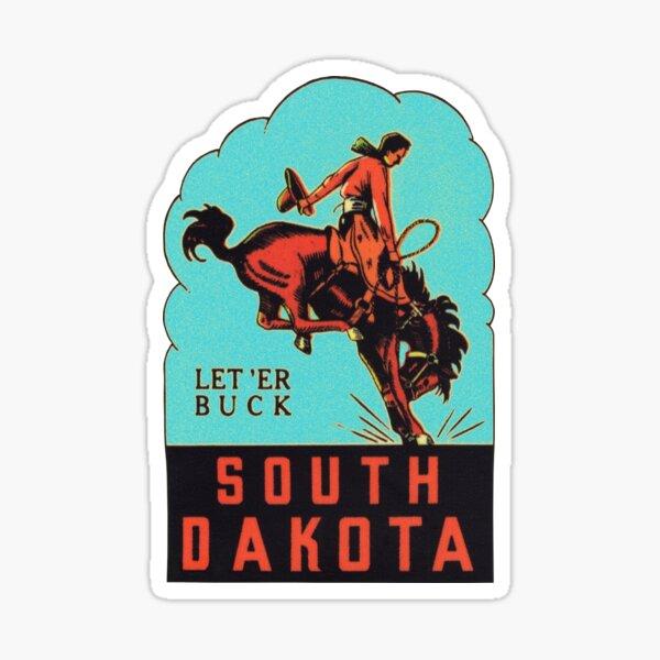 South Dakota SD State Vintage Travel Decal Sticker