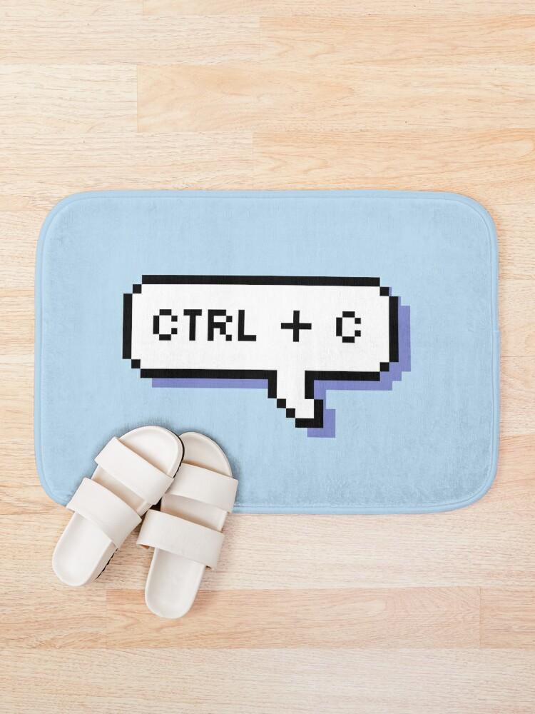 Alternate view of CTRL + C - Pixel Speech Bubble - (Blue) Bath Mat