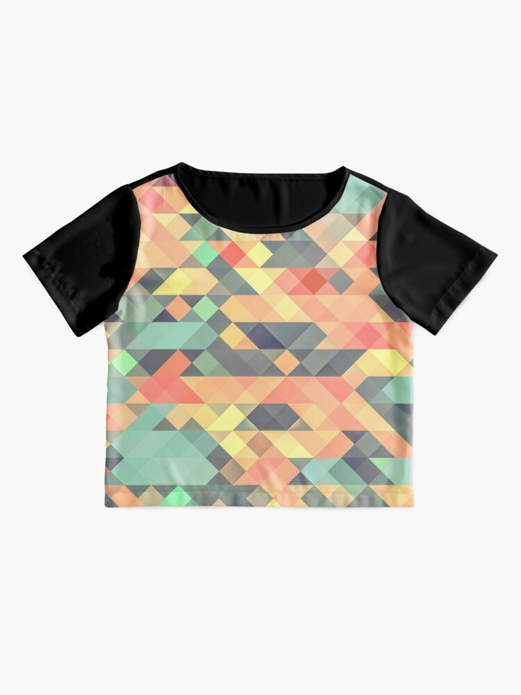 Alternate view of Abstract Geometry Chiffon Top