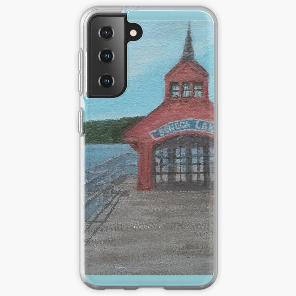 Seneca Lake Pier by Laura Jaen Samsung Galaxy Soft Case