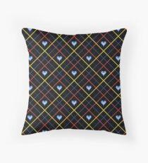 Kingdom Hearts Argyle - Tricolour Throw Pillow