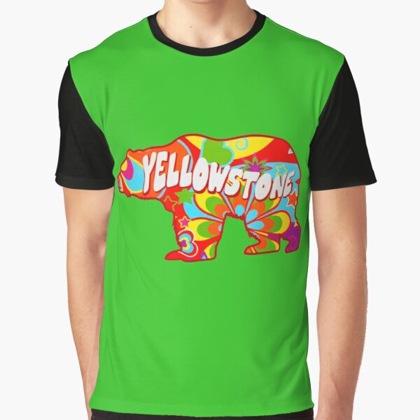 Tie Dye Yellowstone National Park Bear Graphic T-Shirt