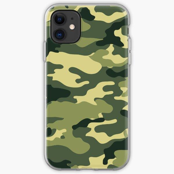 Olivgrüne militärische Tarnung iPhone Flexible Hülle