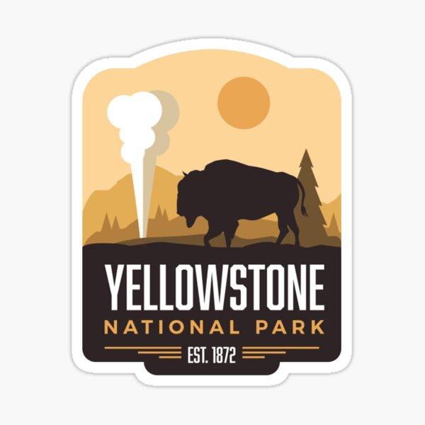 Parque Nacional Yellowstone Pegatina