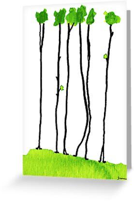 Truly long tree trunks by JannaKool