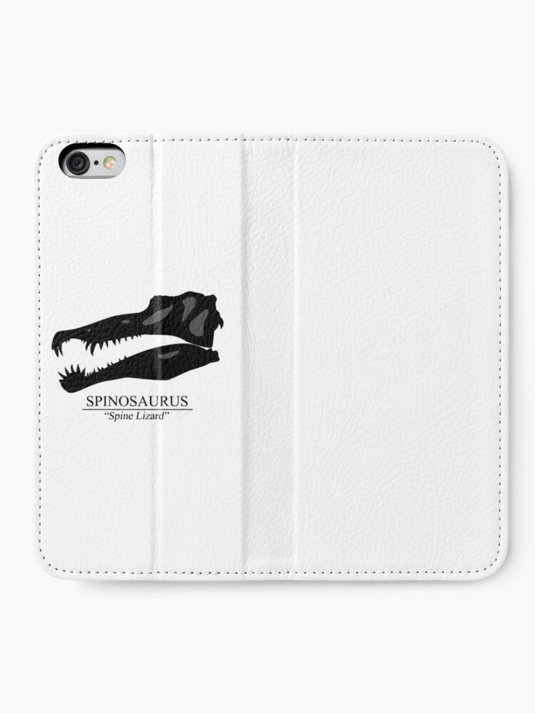Alternate view of Spinosaurus Skull iPhone Wallet