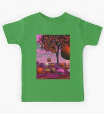 Bittersweet Opinion, Abstract Copper Raspberry Maple Tree Kids Clothes