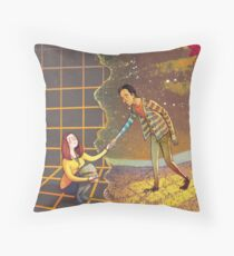 Let's Go - Abed & Annie Throw Pillow