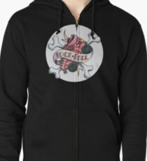 Rock and Roller Derby Zipped Hoodie