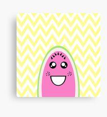Funny Cute Watermelon Face Canvas Print