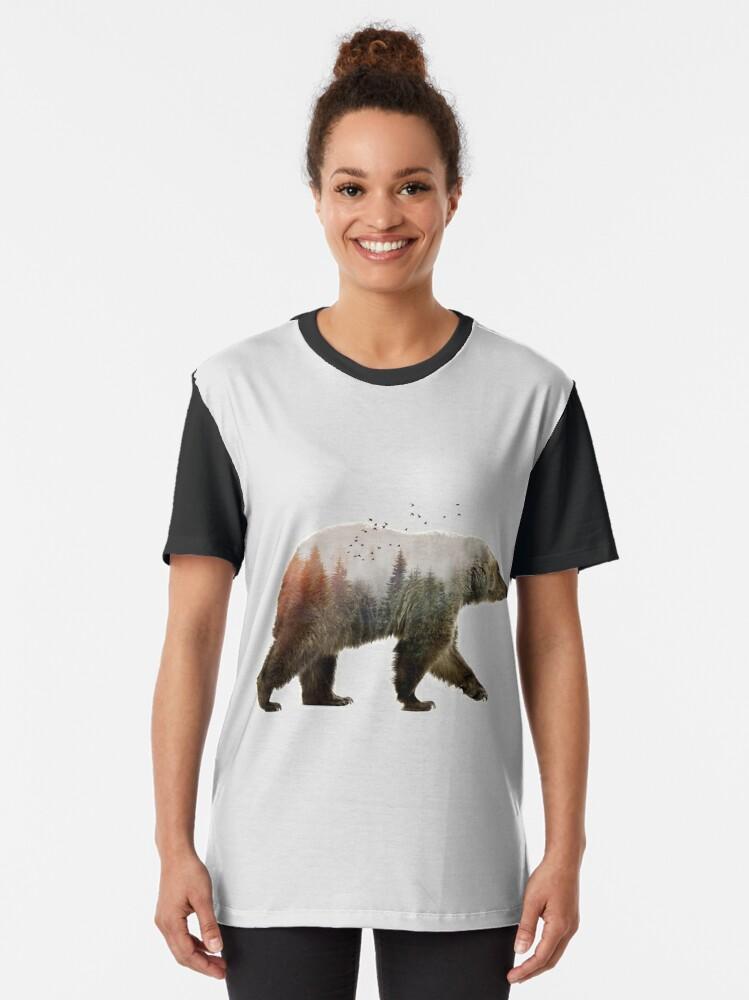Alternate view of Bear Graphic T-Shirt
