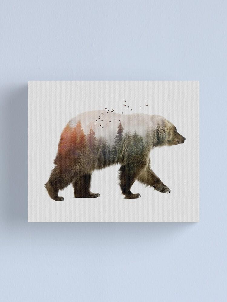 Alternate view of Bear Canvas Print