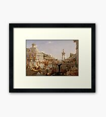Thomas Cole - The Consummation - The Course of Empire Framed Print
