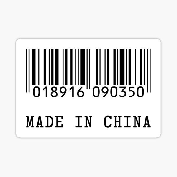 Fake 'MADE IN CHINA' Barcode Sticker