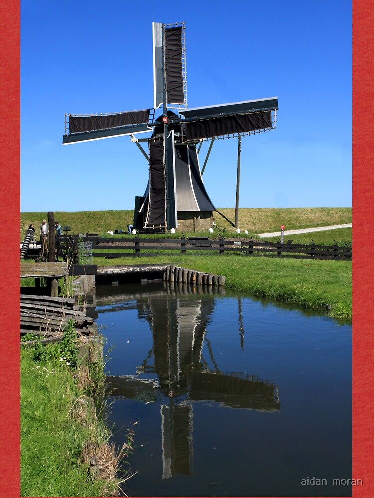 Windmill Reflection In A Pond by aodhain