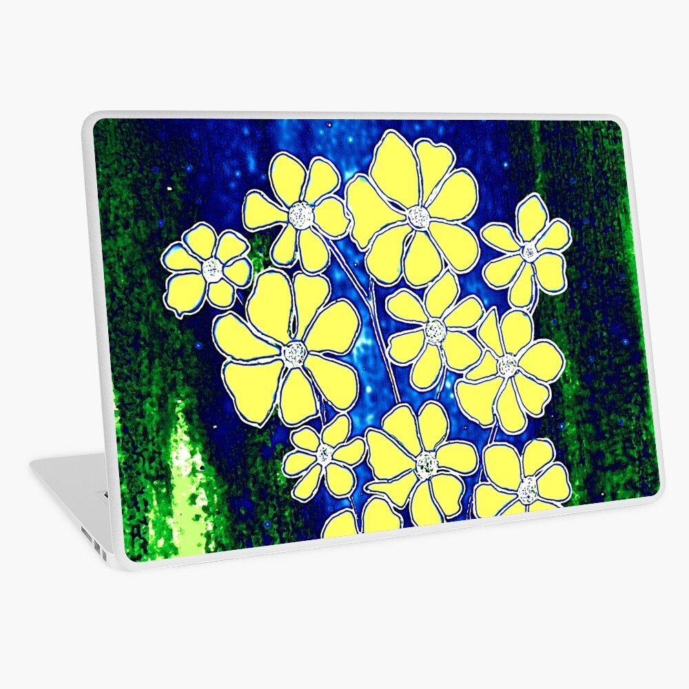 Flowers in Yellow Laptop Skin