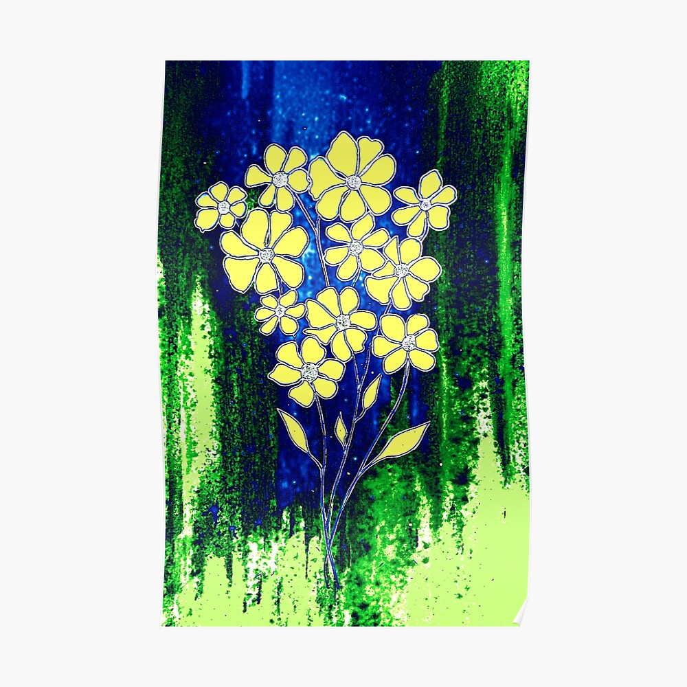 Flowers in Yellow Poster