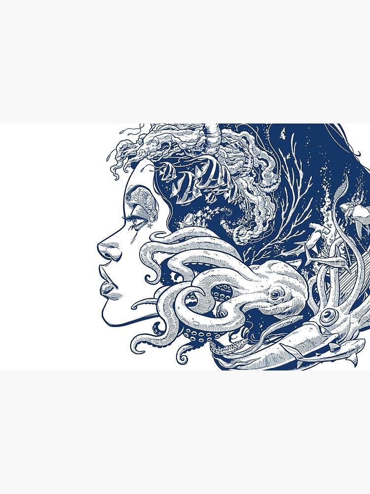 Poseidon's Mistress Blue Alternate by krisvahl